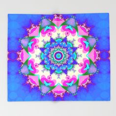 Groovy  colourful patterns mandala Throw Blanket