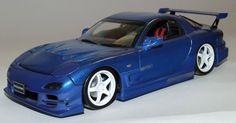 Modellauto Automodell Mazda RX-7 Modell Metall 1:24 austauschbare Teile Tuning…