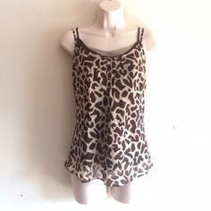 Nicole Miller Tank Animal print layered tank. No trades. Generous discount with bundle. Nicole Miller Tops Tank Tops