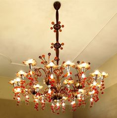 3 CAFFETTERIA De Majo Chandelier made in Morano Italy. Sold in Cactus International Gallery Moscow