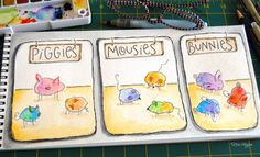 elvie studio: inspiration monday piggies, mousies, bunnies and chickadees oh my