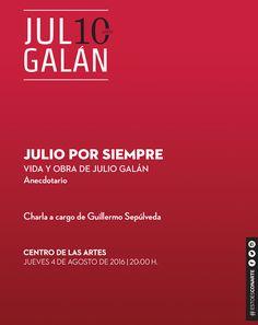 #JULI10Galán Este jueves nos reunimos para hablar de Julio el hombre el artista el misterio... el creador que sigue siendo una figura irremplazable en la plástica mexicana! #EstoEsCONARTE