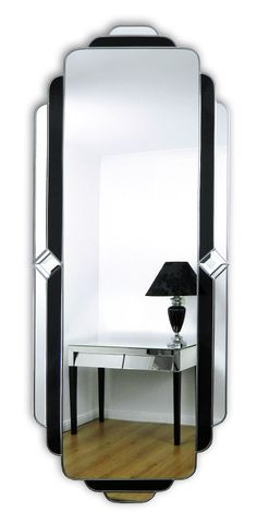 Passion Art Deco full length mirror with black glass