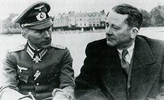 Ernst Jünger und Carl Schmitt in Paris.