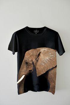 Edun and Ryan McGinley African Elephant T-Shirts for WildAid