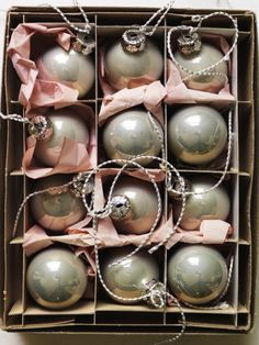 Ornaments!!! I would love pale pink and slightly gray ornaments for decorations!