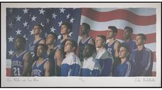 Duke Basketball, Love Blue, Red And White, Photo Wall, Polaroid Film, Photograph