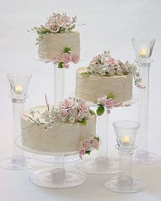 cake stands for wedding cakes | ... diy cake instead of having a traditional wedding cake go for several