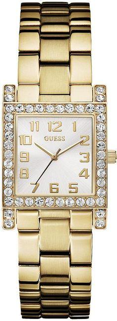 #Guess #Watch , GUESS Women's U0128L2 Yellow Gold-Tone Crystal Watch