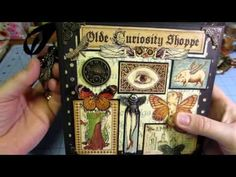 Graphic 45 Olde Curiosity Shoppe Mini Album Journal Using Strathmore Base and Preview - YouTube
