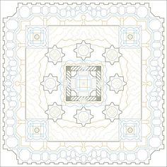 Marrakesh Memories Back Stitch Pattern, Instant Download Cross Stitch Pattern