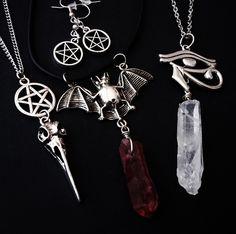 gothic jewelry☠OfStarsAndWine on etsy