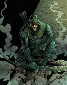 """[I can't be the pretty boy I once was."" Green Arrow belongs to DC Comics portfolio website: philc. The [Green] Arrow Dc Comics Heroes, Dc Comics Characters, Dc Comics Art, Comic Book Heroes, Marvel Dc Comics, Anime Comics, Comic Books Art, Comic Art, Green Arrow"