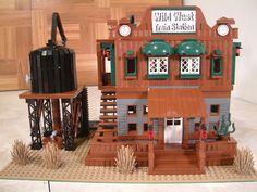 Wild west lego train station for the lone ranger constitution train set. western lone ranger lego train station.