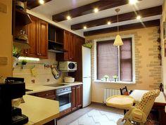 Декоративные балки на кухне