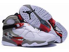 Air Jordan 8 men Basketball Shoes Retro black / white / red HOT SALE! HOT PRICE!