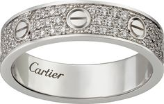 Love wedding band, diamond-pavedWhite gold, diamonds