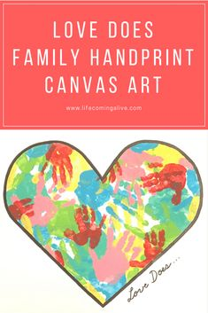 Do you want to inspire the heart of Love Does in the family? Are you wondering how you can create a more loving home? Facilitate a heart of service? This is a fun, hands-on family DIY art project that you can do together. Family Art Projects, Diy Art Projects, Indoor Activities For Kids, Group Activities, Handmade Birthday Gifts, Good Parenting, Parenting Books, Valentines Art, Handprint Art