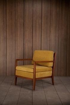 fauteuil scandinave jaune