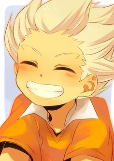 Gouenji looks so cute In this picture!