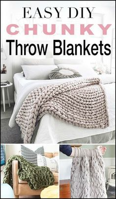 Keep Yourself Warm and Cozy by Making Your Own Chunky Knitted Blankets