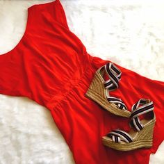 MNG by Mango Red Dress w/ Back Button Details This adorable silky feel dress is demure in the front and flirty in the back! Buttons all the way up the skirt and back, small cutout section in the back. Perfect condition, ready for fun! Mango Dresses
