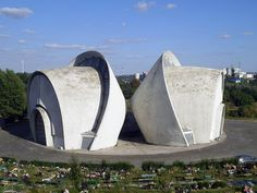 The Palace of ceremonial rites, Tbilisi, Georgia.  Masterpiece of the Soviet modernism erected in 1985. The building was bought by a local businessman who was finally buried there in 2008.