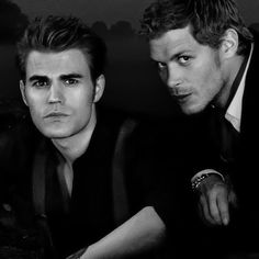 The Vampire Diaries . Paul Wesley and Joseph Morgan as Stefan Salvatore and… Ian Vampire Diaries, Vampire Diaries Wallpaper, Vampire Diaries The Originals, Hemlock Grove, Stefan Salvatore, Joseph Morgan, Paul Wesley, Nina Dobrev, Damon And Stefan