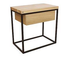 Table de chevet MOONLIGHT, noir et naturel - L50