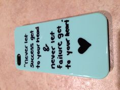 I bought a plain mint case on amazon and then I wrote my favorite quote in sharpie! Put clear nail polish on after so it will stay!!