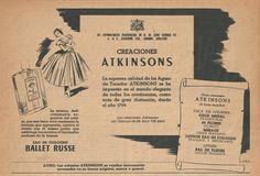 1951 ATKINSONS Ballet Russe fragrance ad (Spain)