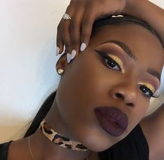 Resultado de imagem para make up for black skin Makeup Goals, Love Makeup, Makeup Inspo, Makeup Inspiration, Makeup Tips, Beauty Makeup, Hair Beauty, Maquillage On Fleek, Maquillage Black