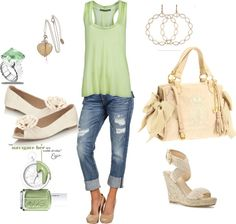Ivory & green. Love, love, love!