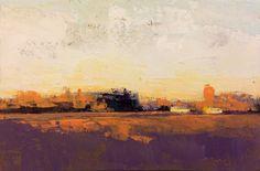 """Last Winter Light"", oil, 4 x 6″, © Mary Bentz Gilkerson"