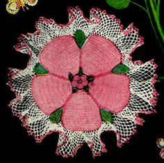 Rose Ruffle Doily | Free Crochet Patterns. Loads of free patterns already written out. And you can follow them on Pinterest.