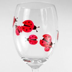 ladybug wineglass- made me think of my good friend Kelly...