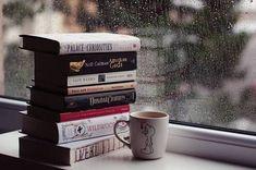 gambar book, rainy days, and rain Rainy Day Photography, Rain Photography, Rain And Coffee, Coffee And Books, Best Books To Read, Good Books, Rainy Day Images, Tea Club, Rain Wallpapers