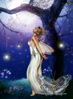 """""""Daughter of the Moon Fairy"""" by Emma Marlow  (=^.^=) Thanks, Pinterest Pinners, for stopping by, viewing, re-pinning,  following my boards.  Have a beautiful day! ^..^ and """"Feel free to share on Pinterest ^..^  #fairytales4kids #fairies"""