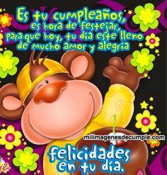 Happy Birthday Images, Happy Birthday Cards, Birthday Cake, Spanish Birthday Wishes, Great Inspirational Quotes, Happy Day, Birthday Decorations, Margarita, Oreo