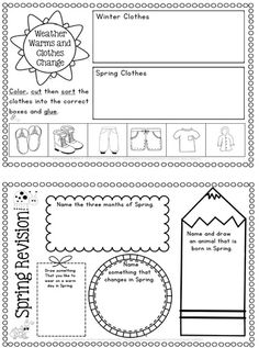 Spring Writing Worksheets/Printables (science, reading and writing) 80 pages for K-1.
