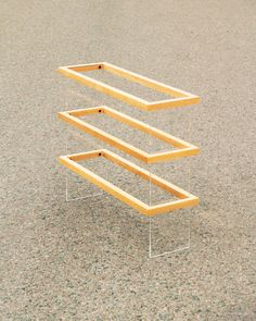 FLOAT 3F shoe rack handmade from solid wood / by MKLNfurniture