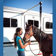 HiTie Horse Trailer Tie System. I'mma make a bet that the engineer on my crew can make this for me! ;)