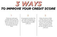 3 Ways to Improve Your Credit Score // Brittney Castro, CFP® // Financially Wise Women