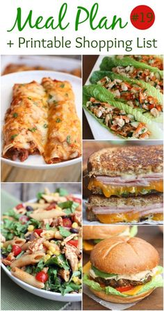5 easy and family-friendly meal ideas with a printable shopping list! Meal plan from Tastes Better From Scratch