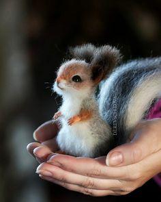 Fluffy Animals, Felt Animals, Cute Funny Animals, Needle Felting, Kawaii, Artist, Dreams, Toys, Crochet