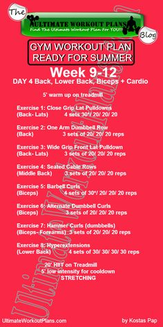 GYM WORKOUT PLAN READY FOR SUMMER WOMEN 3d month day4 » UltimateWorkoutPlans.com