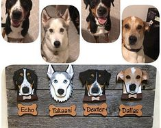 Boxer Ears Down uncropped Can Be Personalized Laser Cut Wood Dog Ornament