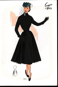 1952 French Fashion Plate #4