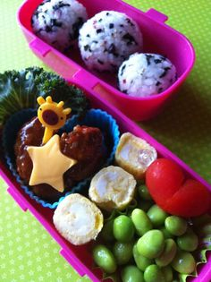 Oh! My Bento: Rice balls with meat ball
