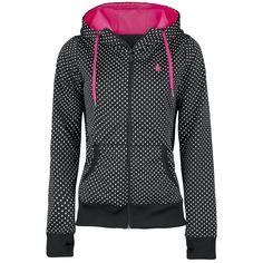 """Original """"Volcom""""-""""Stone Dot"""" Girl-Kapuzenjacke    Auffällige Kapuzenjacke aus der Volcom Snowboard Line.  - hochschließender Logo-Zipper  - Logo-Stick auf der Brust und auf dem Rücken  - zwei..."""